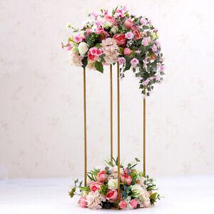60CM Gold Metal Flower Stand Plinth Pedestal Wedding Centerpieces Floral Display
