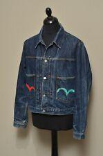 EVISU Men's Vintage Japanesse Blue 2 Pocket Denim Jacket Size L Made in Italy