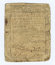 BEN FRANKLIN PRINTED PENNSYLVANIA HIGHEST 20 Shs of 1757 with a DOUBLE ERROR