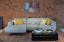 Flaire LHF Chaise Sofa, Settee in Shetland Grey Fabric RRP £1999 New Warranty