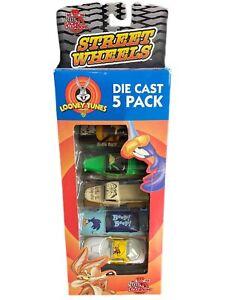 1999 Racing Champions Looney Tunes Street Wheels 5 Car Set Daffy Duck & More NIB
