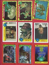 1980's & 90's Topps Teenage Mutant Ninja Turtles  U-pick 8 cards  nm to mint