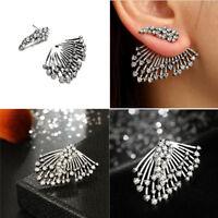 Trend Punk Style Zircon Statement Ear Stud Earrings Women Jewelry Gift 2018 New