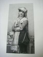 XIXe 1878 ancienne Gravure la petite mariée de J LEFEBVRE signée et dédicacée