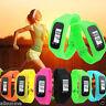 Digital LCD Pedometer Run Step Walking Distance Calorie Counter Watch Bracelet