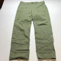 Banana Republic Green Boyfriend Slouchy Fit Chino Pants Sz 14L 14 Long A1245