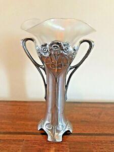 Art Nouveau Silver Plated WMF Flower Vase & Liner @1