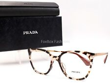 PRADA 11T F UAO 1O1 Eyeglasses Frames Glasses Opal Brown Havana ~  Gold ~ 53mm