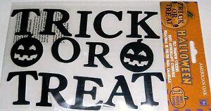 TRICK OR TREAT  Halloween Felt Stickers