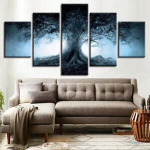 Dark Forest Fantasy Tree Shadow 5 pcs HD Art Poster Wall Home Decor Canvas Print