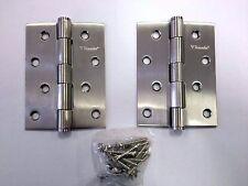 5 pair stainless steel door hinges 100x75x2.5mm loose pin