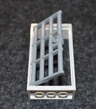 (1) 2x4x6 White Window Frame w/ LG Prison Bar Door Bricks - NEW Lego Parts
