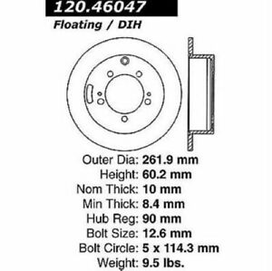 StopTech 126.46047SL Sport Slotted Brake Rotor For 95-98 Eagle Talon NEW