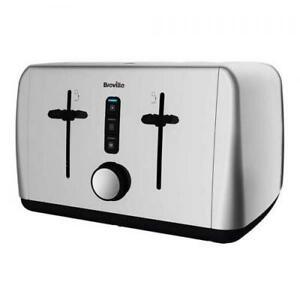 Breville 4 Slice Toaster Variable Wide Bread Slot Chrome New