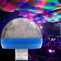 1x Car USB RGB Interior Atmosphere Neon Light Mini Colorful Music LED Decor Lamp