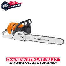 "Stihl MS462 Chainsaw 20"" Bar (50 cm) 72,2cc 3/8"" Chain Pitch W/ Tools Original"