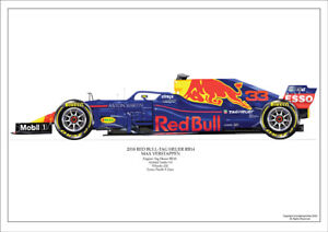 2018  Max Verstappen Red Bull RB14 ltd ed.  / 250 signed & numbered by artist