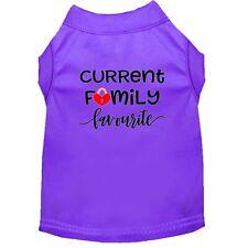 Family Favorite Screen Print Dog Shirt Purple