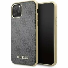 Genuine Guess 4G Collection Impact Case Cover for iPhone 11 Pro in Grey