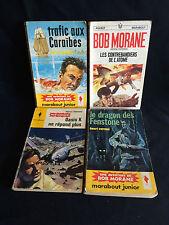 Lot de 4 Bob Morane Ed Marabout dont E.O en bon état génaral, (voir détails)