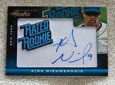 Kirk Nieuwenhuis 2012 Panini Signature Series Rated Rookie Auto Card #202/299