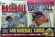 1996 Topps Baseball Factory Sealed Cereal Set #2 + 4  Mantle Commemorative Cards