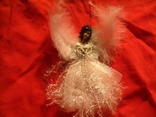 6 Black Angel Christmas Ornaments Decorations African American