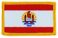 FLAG PATCH PATCHES FRENCH POLYNESIA TAHITI IRON ON COUNTRY EMBROIDERED SMALL