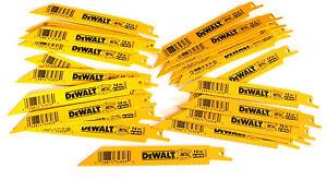 """25 DEWALT 6"""" RECIPROCATING SAW BLADES 14TPI BI METAL DW4808 FITS SAWSALL"""