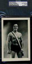 PRIMO CARNERA PSA/DNA SIGNED 5X7 VINTAGE PHOTO AUTOGRAPH