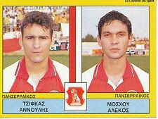 N°451 PLAYERS PANSERRAIKOS FC GREECE PANINI GREEK LEAGUE FOOT 95 STICKER 1995