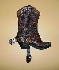 #2 - Western Cowboy Boot ~ Home Sweet Home ~ Wall Coat, Towel Hanger, Hook