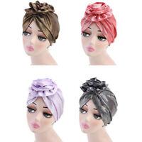Women Elastic Flower Hair Turban Hat Scarf Chemo Beanies Headwear Head Wrap D