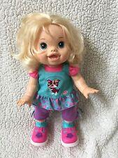 "BABY ALIVE 2011 Baby WANNA WALK Walking Talking Interactive Hasbro DOLL 14"" EUC"
