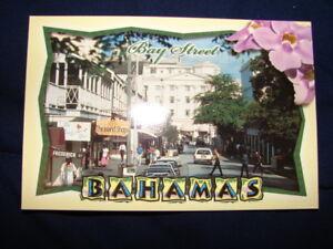 Vintage 80's Bay Street Shops Nassau Bahamas Frederick St Postcard