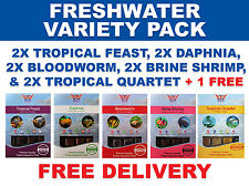 BCUK 100G FROZEN FISH FOOD - FRESHWATER MIX/VARIETY 10x 100G PACKS