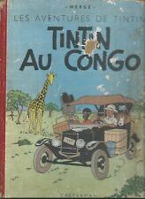 1947-TINTIN AU CONGO- HERGE-RELIURE ROUGE