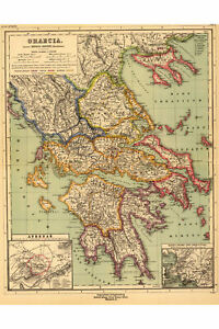 Map of Ancient Greece as Drawn in 1903