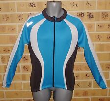 CELL Large Mens Cycling Jacket Blue White Pre Owned Clean