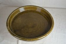 "RARE ! Lanier / Cheever Meaders 13 "" Folk Art Pottery Tray  Bowl Signed "" L.M."""