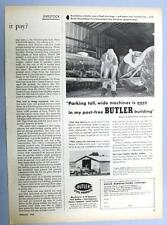 Dated Original 1954 Butler Building Ad Endorsed L S Klinedinst Granger Indiana