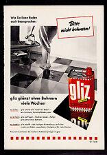 3w1967/ Alte Reklame von 1960 - GLIZ glänzt ohne Bohnern viele Wochen.