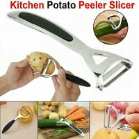 Heavy Duty Chrome Alloy Kitchen Potato Peeler Fruit Vegetable Rapid Slicer UK
