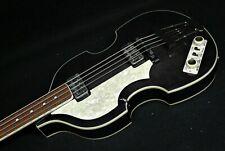 Hofner HCT-500/1L BEATLE BASS GUITAR Left Handed Lefty TRANS BLACK TEA CUP KNOBS