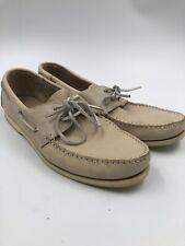e367ffd89b2dd St. John s Bay Tan Men s Leather Boat Shoes Size 13M - 2 Eye Lace Up