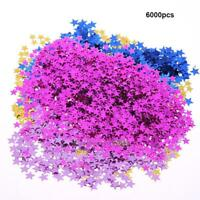 6000pcs 6mm Glitter Stars Table Confetti Sprinkles Birthday Party Wedding Decor