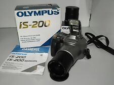 Olympus IS-200 AF-SLR 35mm Film Camera & Lens Converter As New Condition & Box