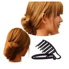 Hair Styling Updo Bun Comb Clip Tool Formal French Twist Maker Holder DIY Beauty