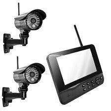Funk Videoüberwachung Überwachungssystem Funküberwachung 2 Kamera 4 Kanal HS 200