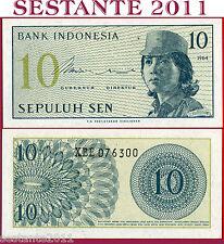 INDONESIA -  10 SEN 1964 REPLACEMENT  Prefix  X - P 92 r - FDS / UNC